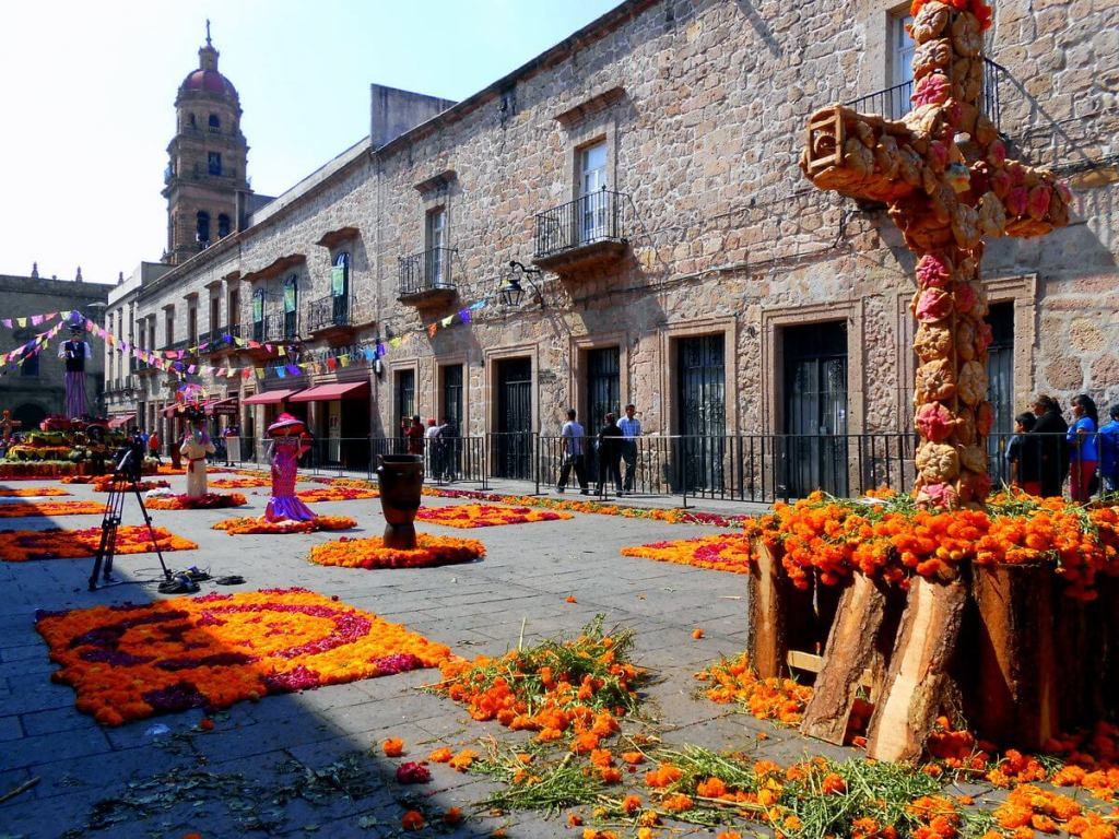 Downtown Morelia for Day of the Dead