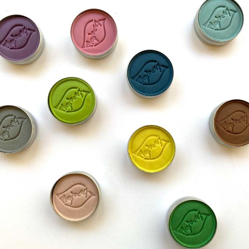 playdough made from plants in rainbow colours