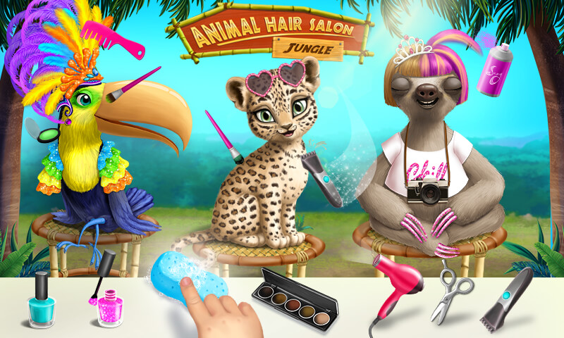 Jungle Animal Hair Salon Styling Game For Kids Free Games