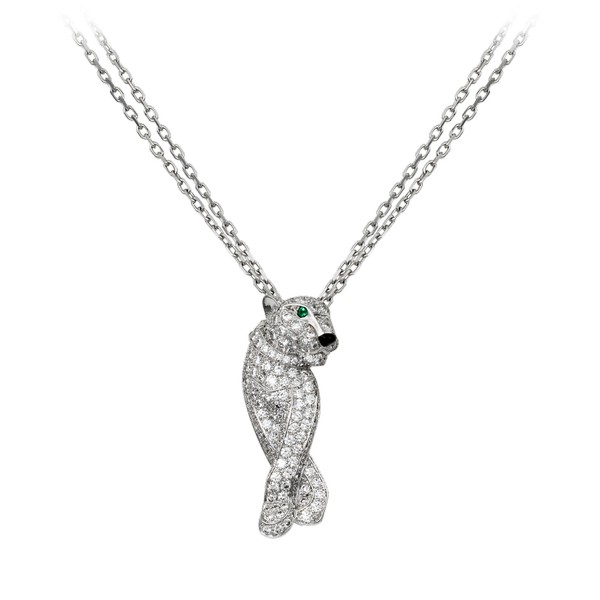 Cartier-Panthère-necklace-in-white-gold-diamonds-emeralds-onyx-29000