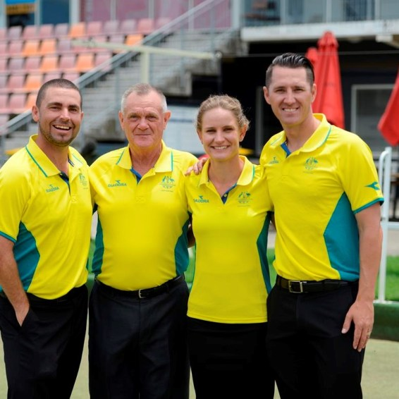 Victoria's 2018 Commonwealth Games representatives (L to R) Josh Thornton, Ken Hanson, Carla Krizanic and Barrie Lester. Photo Credit: Commonwealth Games Australia.