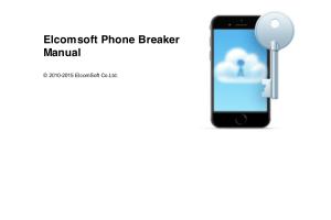 Elcomsoft Phone Breaker Cracked registration Code