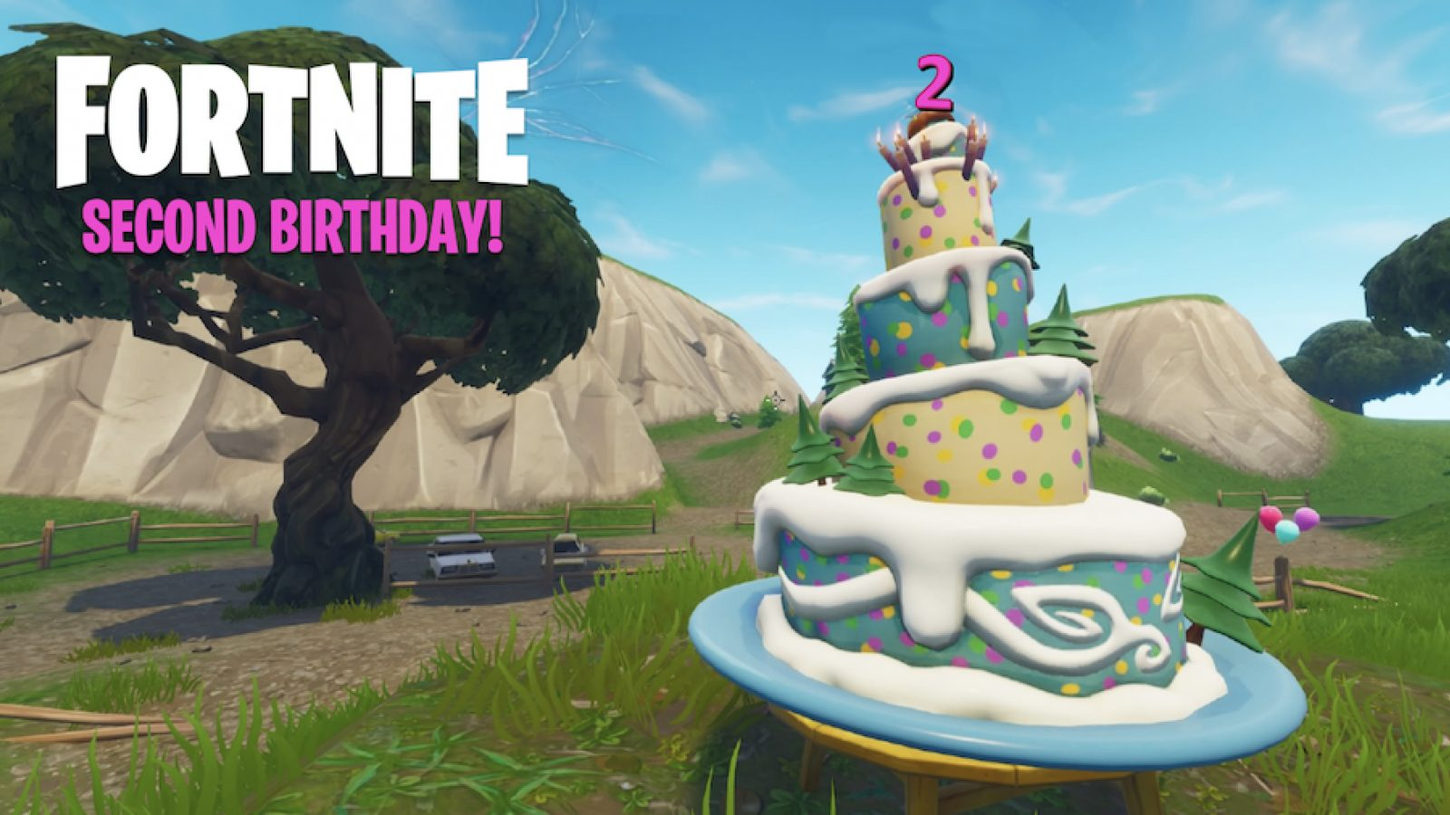 Fortnite Challenges 2nd Birthday Dance In Front Of Several Birthday Cakes Play Crazy Game