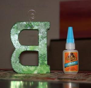 Sparkly Letter DIY
