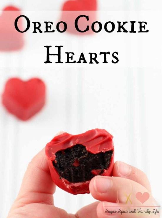 Heart Shaped Chocolate Treats: Oreo cookie truffles