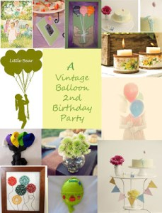 {Inspiration Board} Vintage Balloon Party