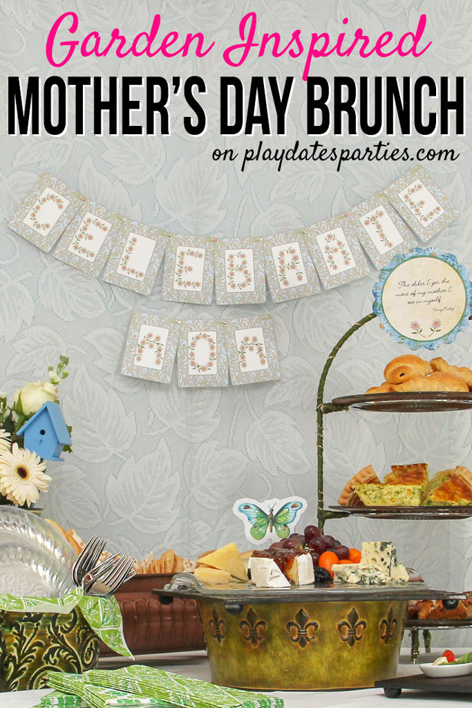 Looking for Mother's Day brunch ideas that are fun and easy to pull together? Head over to playdatesparties.com to get all the details on this garden-inspired Mother's Day feast that you can easily recreate. #MothersDay #brunch #MothersDaybrunch #pdpcelebrates