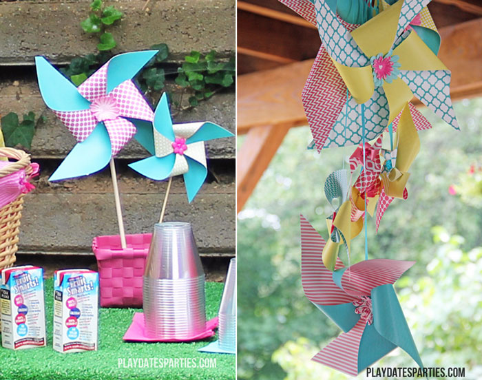 This adorable picnics and pinwheels birthday party is the perfect theme for a little girl or boy, and is the perfect combination of cute and relaxed!