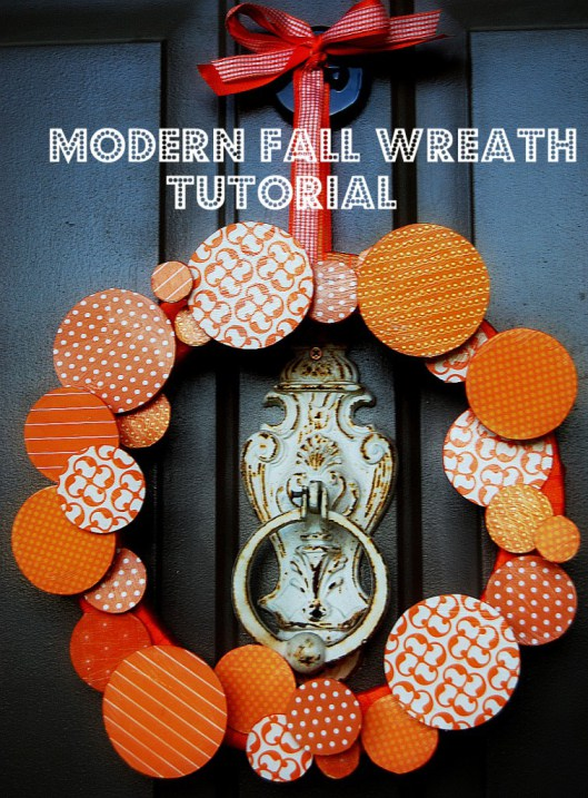 5 Clever and Colorful Fall Wreaths: How about a modern 3-D wreath for your front door?