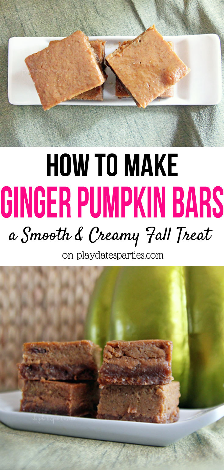 With pumpkin, caramel, and a gingerbread crust, these ginger pumpkin bars have just about every fall flavor in one delicious bar. Just make sure to leave some for friends and family, too!