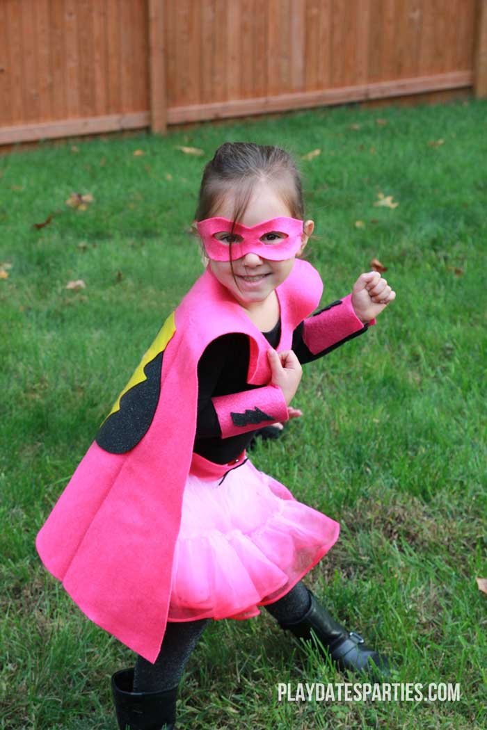 Learn how to make all the different components for this adorable DIY Superhero costume in one afternoon with just a few easy-to-find supplies.