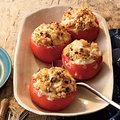 My Recipes - Baked Tomatoes with Quinoa Corn