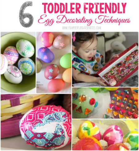 6 Toddler Friendly Ways to Decorate Easter Eggs