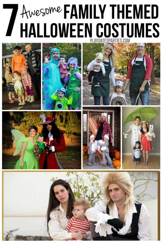 Who says costumes are just for kids. These 7 awesome family themed costumes are sure to be fun for everyone.