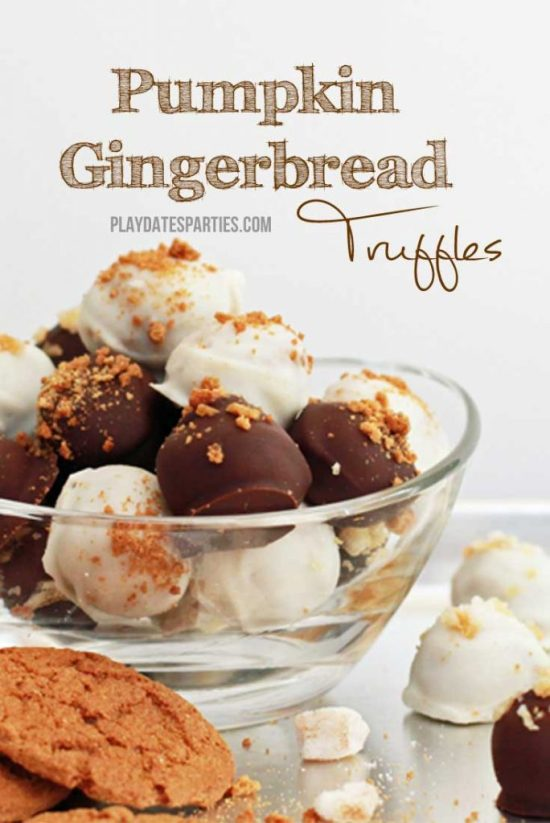 Pumpkin Gingerbread Truffles from playdatesparties.com