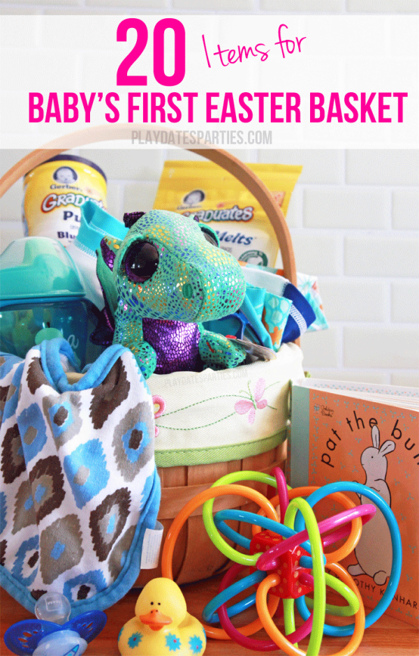 It's so easy to shop for older kids' Easter baskets. But what about baby? Here are 20 age-appropriate gifts for baby's first Easter basket.