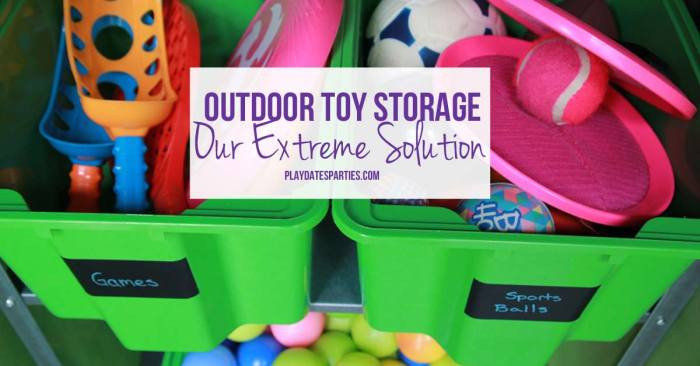 We don't have room to store outdoor toys in our house, and the detached garage is dangerous and difficult for the kids to get into. Take a look at the solution we came up for outdoor toy storage using a shed from Lowe's and lots of Ikea storage.