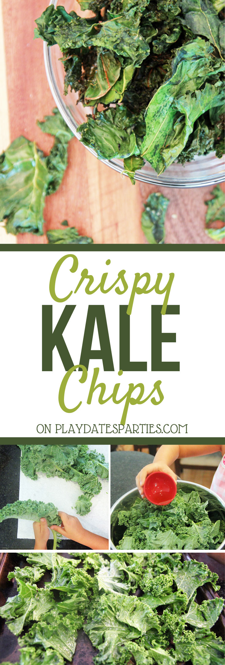 A trip to the farmer's market and this crispy kale chips recipe are a fantastic way to get kids excited about eating healthy! #easyrecipes #vegetables #healthy #kids