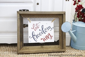 Blooming Homestead - Let Freedom Ring