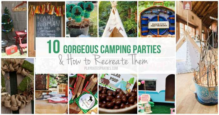 Take a look at these 10 gorgeous camping parties and find out which elements you can easily recreate for your own spin on this fun theme!