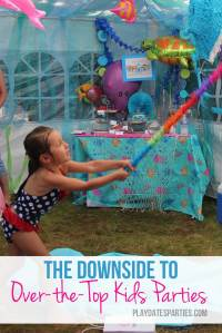 The Downside to Over-the-Top Kids Parties