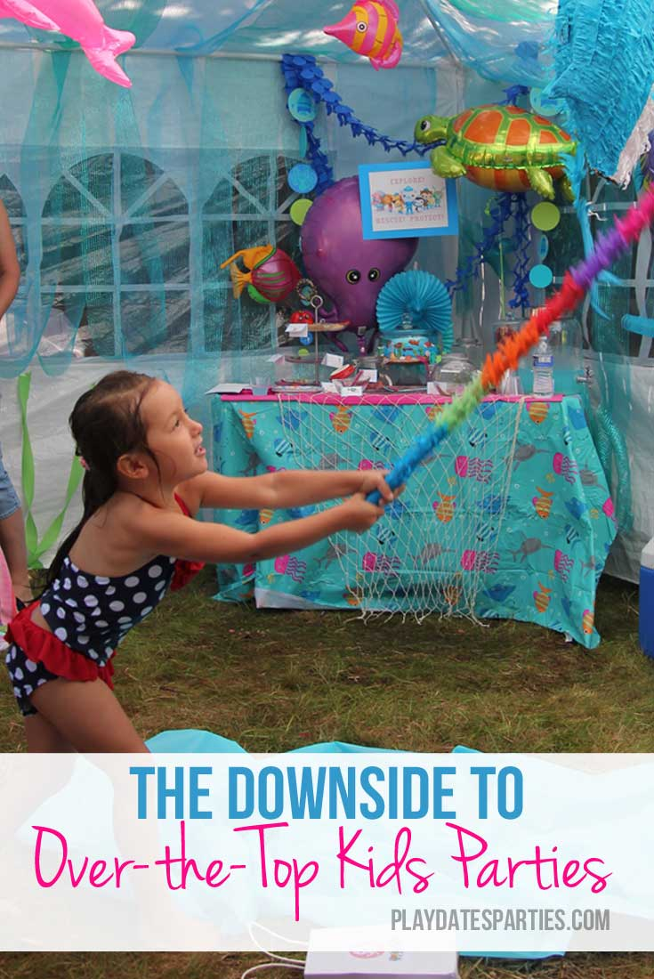 When is it time to say enough is enough? Even as a crafty mom, I admit there is a downside to today's over-the-top kids parties.