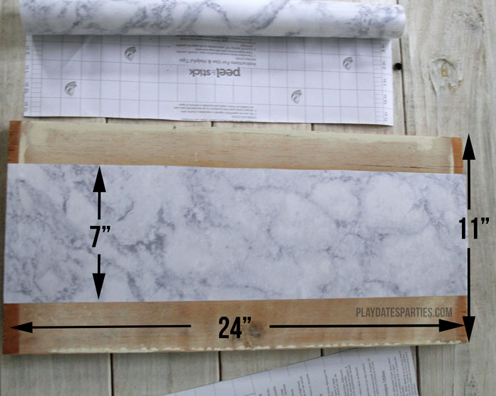 Find out how to make your own inexpensive marble shelves in your own closet for a timeless look. It only takes a couple hours and a few dollars!