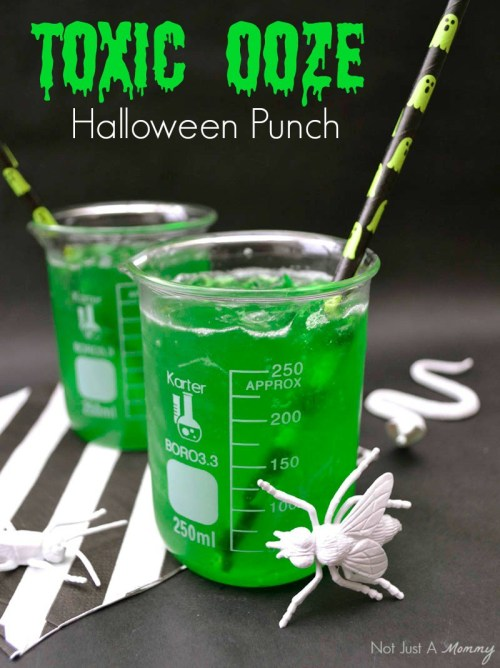 Toxic Ooze Punch: Start a new family tradition with a pitcher of one of these 10 Halloween mocktails while you join the kids for trick-or-treating.