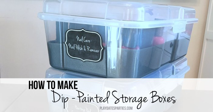 Dip-Painted storage boxes are perfect for anyone who loves the idea of clear storage containers, but hates seeing all the clutter inside.