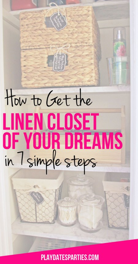 Getting and maintaining an organized linen closet is possible for anyone, as long as you follow these 7 simple steps to a linen closet you love.