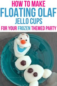 How to Make these Adorable Floating Olaf Jello Cups