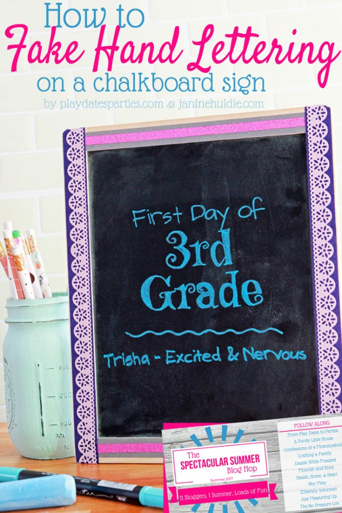 Love the look of hand lettering, but don't have the time to practice? Find out how to fake hand lettering on a small chalkboard sign with this one ridiculously simple cheat. You'll love the results!