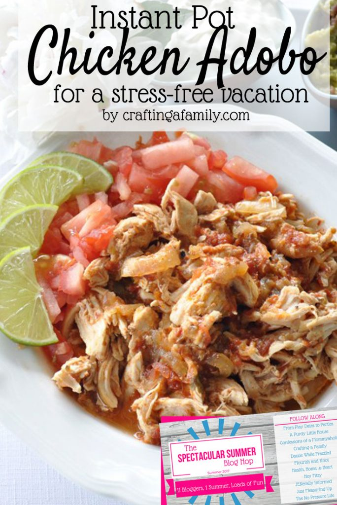 A stress-free vacation starts with making sure everyone is fed & happy. Everyone will love this chicken adobo recipe & printable packing checklist, too!