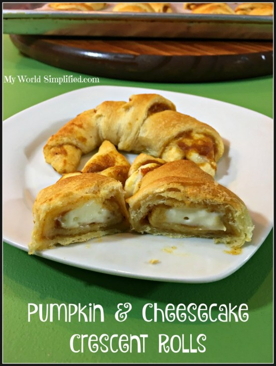 Pumpkin Cheesecake Crescent Rolls by My World Simplified