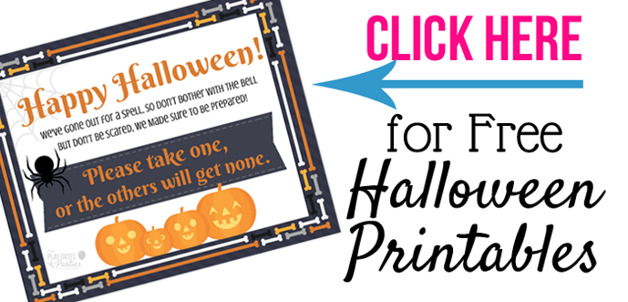 Find out why you should embrace trick-or-treating with the whole family, tips to make your night go smoother, and grab a cute printable Halloween take one sign too!