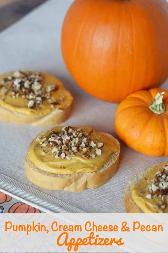 Pumpkin Cream Cheese & Pecan Appetizers by This Mama Loves