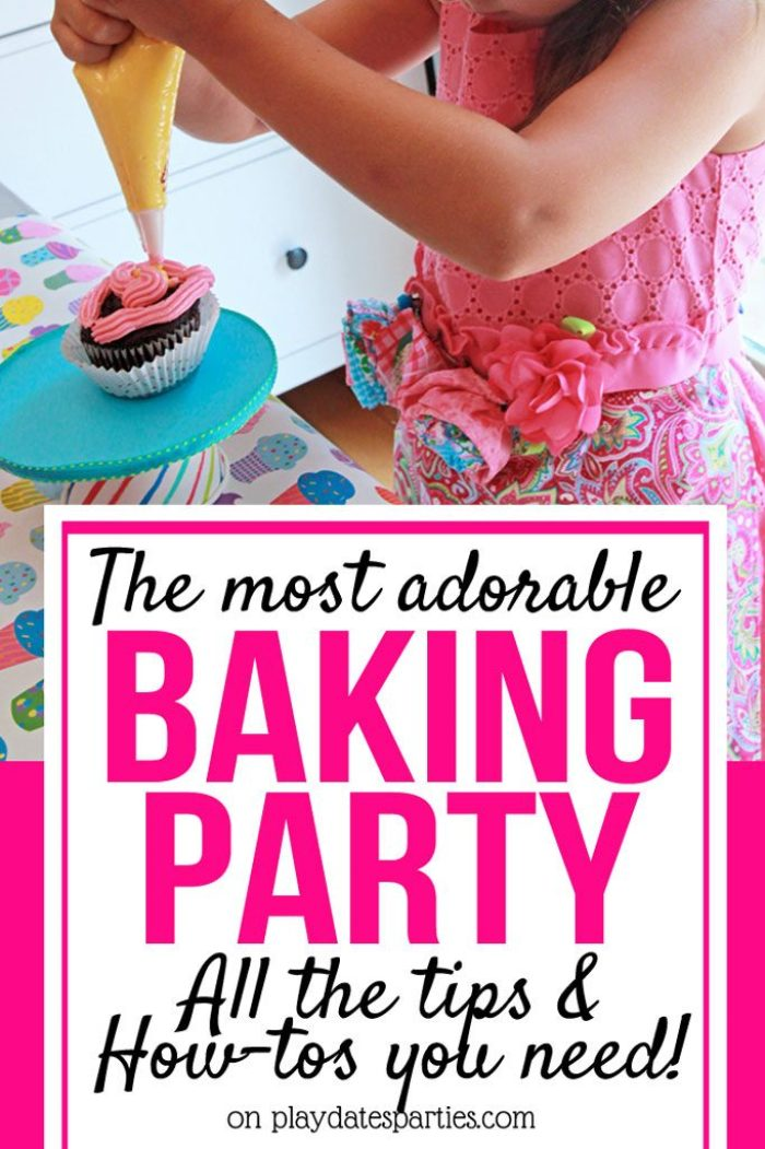 Does your kid love to bake? Find out how to throw an amazing baking birthday party including birthday party games, birthday party decorations, and DIY party decor crafts. #bakingparty #kidsparties #DIYpartydecor #pdpcelebrates