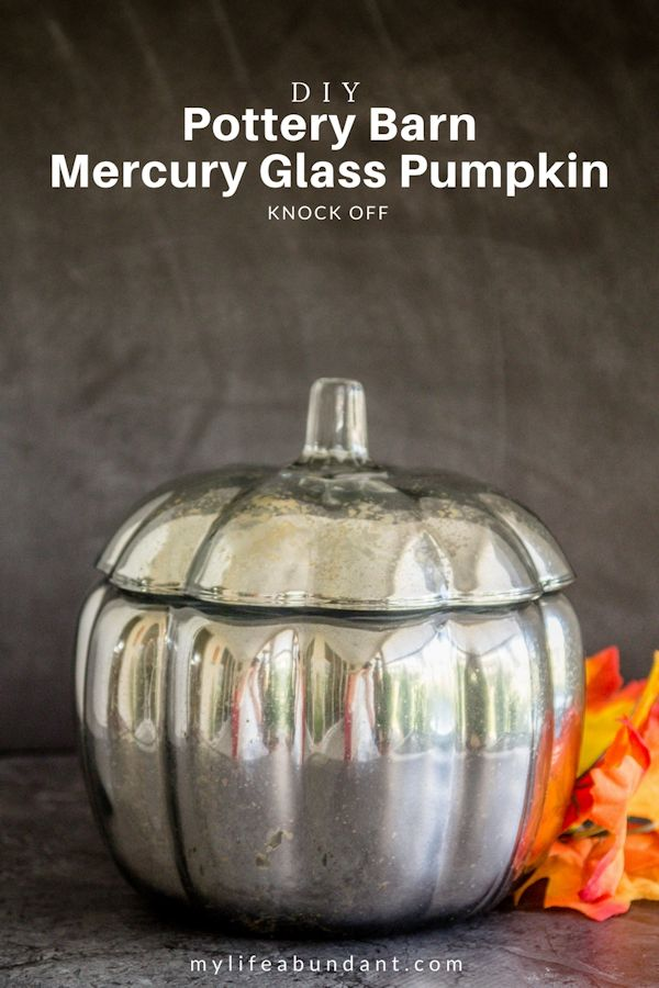 DIY Pottery Barn Mercury Glass Pumpkin Knock Off From my Life Abundant.