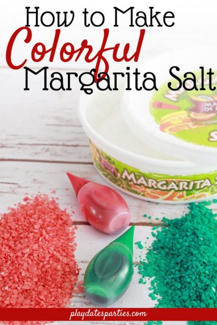 How to Make Colored Margarita Salt | Ways to Garnish Mixed Drinks by From Play Dates to Parties