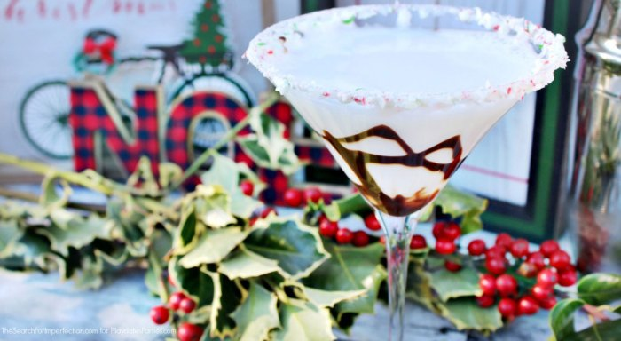 Looking for a stunning (but also EASY) #holiday #cocktail? Give this Peppermint Mochatini Cocktail Recipe a try. You'll love how simple it is to pull together, and your guests will love the beautiful garnish combined with the #chocolate and mint flavors.