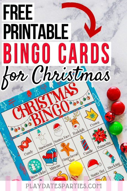I'm always looking for easy DIY Christmas kids games that can be played inn the classroom or at family gatherings. This awesome set of super colorful free printable Christmas bingo cards fits the bill perfectly. Little kids and preschool children can play too, since the cards use both words and pictures. Print out a set today and keep them in your list of winter activities for long days inside. #Christmasprintables #holidays #familyfun #partyideasforkids