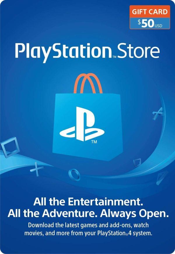 PlayStation Store Gift Card de $50 – Estados Unidos – Código Digital