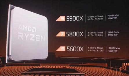 AMD revela la serie de procesadores Ryzen 5000 con arquitectura Zen 3
