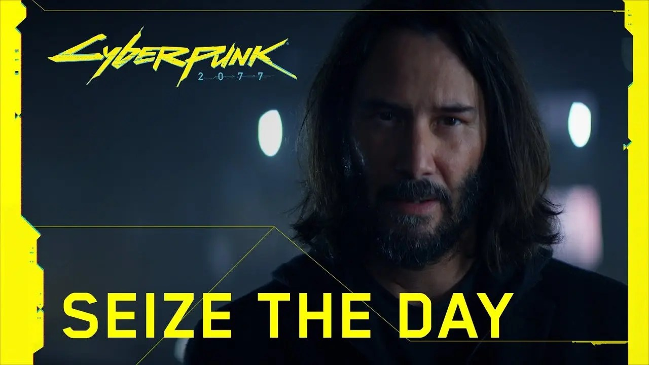 "Keanu Reeves protagoniza el comercial de Cyberpunk 2077, ""Seize the Day"""
