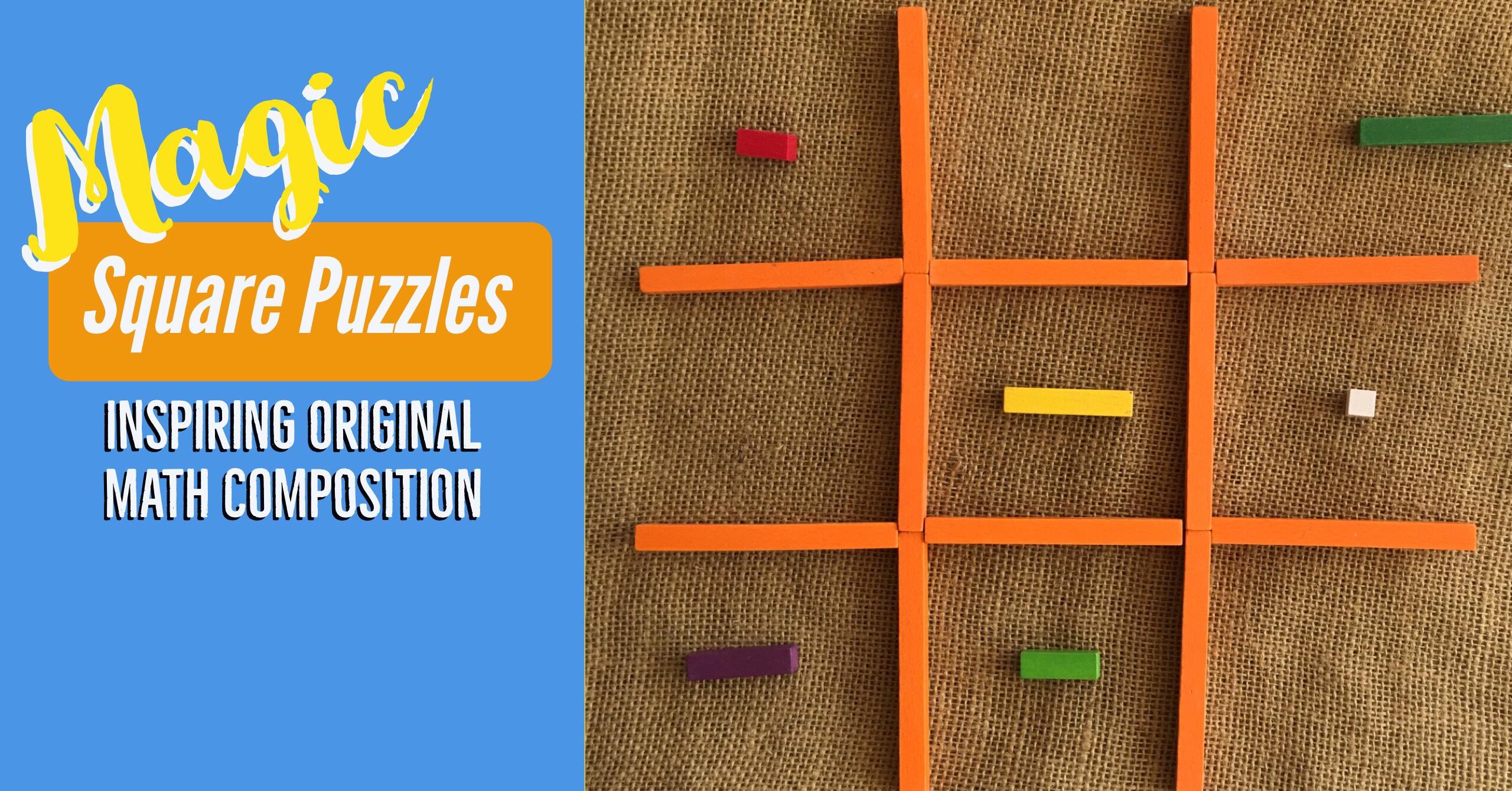 Magic Square Puzzles Original Math Composition