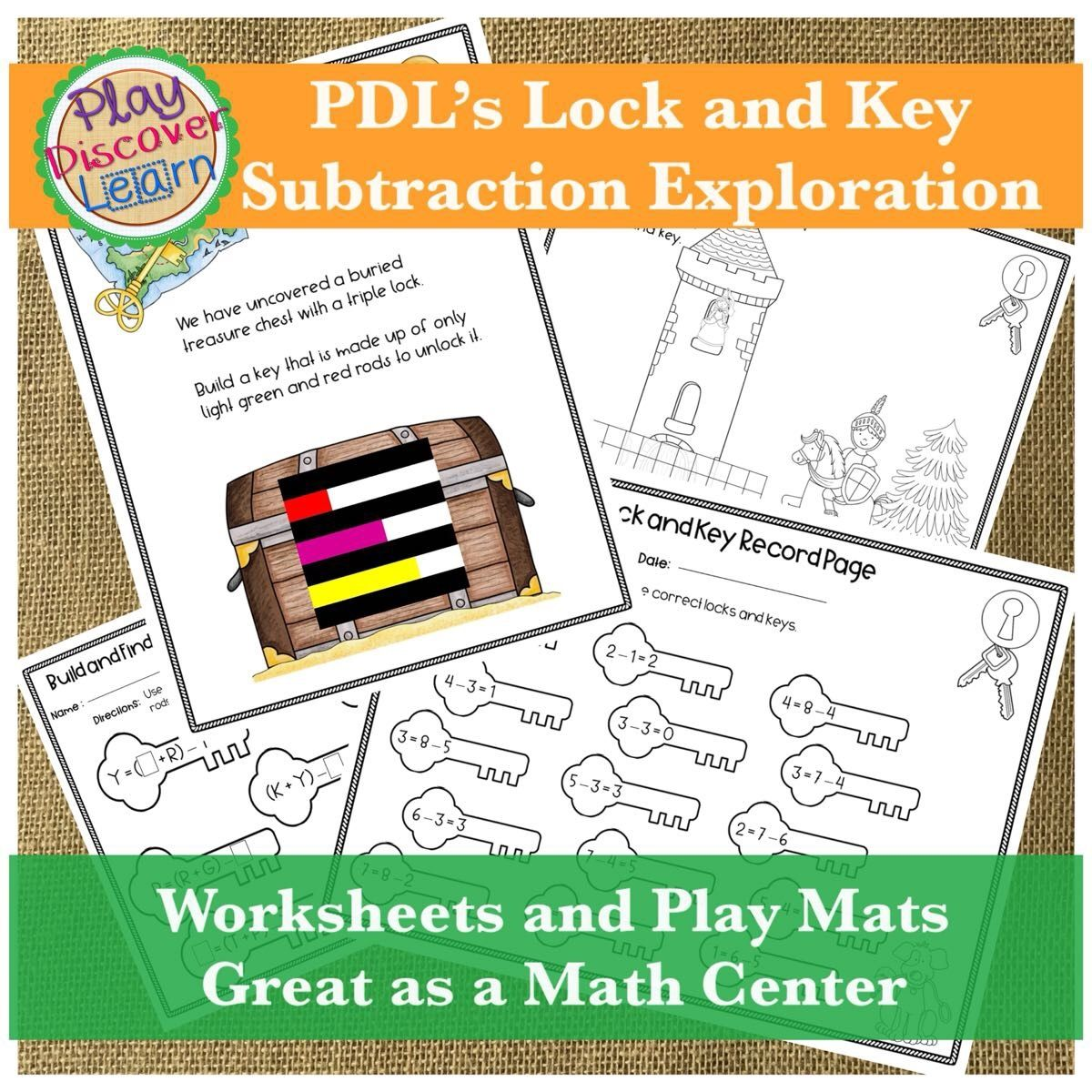 cuisenaire rod subtraction activity