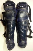 Mike Zunino Signed Game Used Shin Guards – Blue