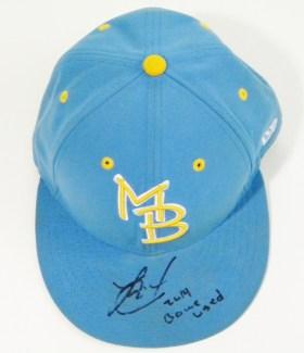 Jorge Alfaro Game Used Myrtle Beach Pelicans Hat – Blue