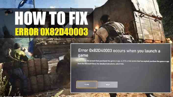 Black Ops: Cold War – Error 0x82d40003 on Xbox | How to Fix