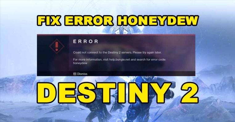 Destiny 2: How to Fix Error Code Honeydew
